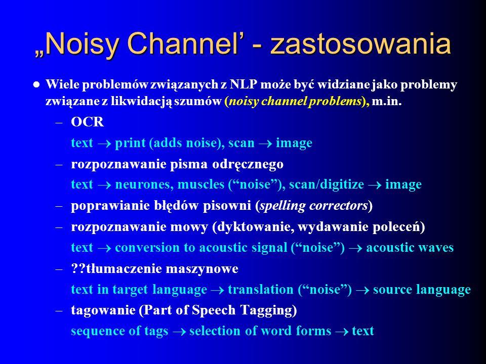 """""""Noisy Channel' - zastosowania"""