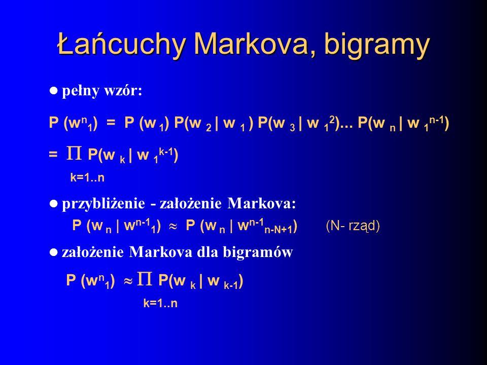 Łańcuchy Markova, bigramy