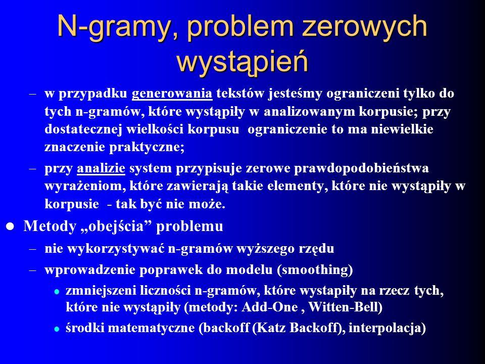 N-gramy, problem zerowych wystąpień