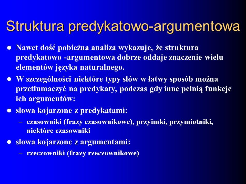Struktura predykatowo-argumentowa