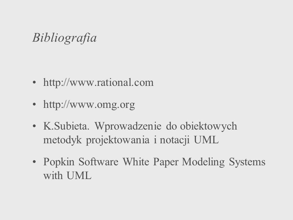 Bibliografia http://www.rational.com http://www.omg.org