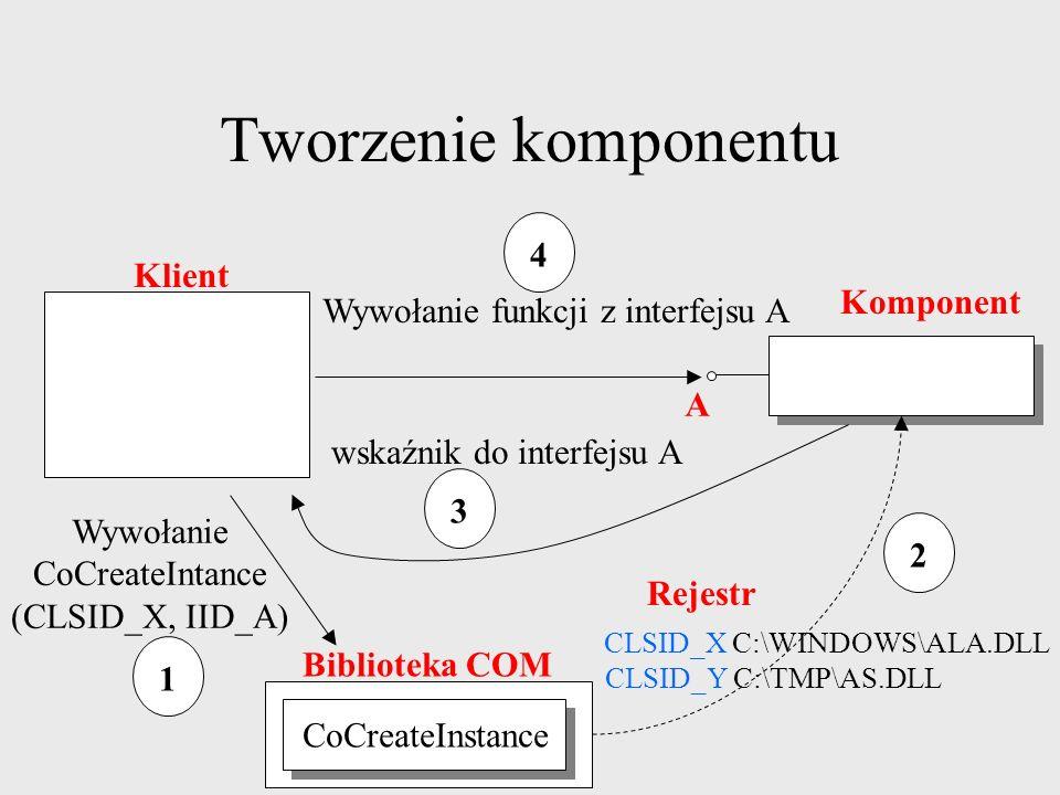 Tworzenie komponentu 4 Klient Komponent
