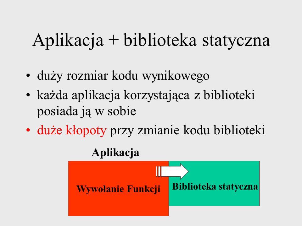 Aplikacja + biblioteka statyczna