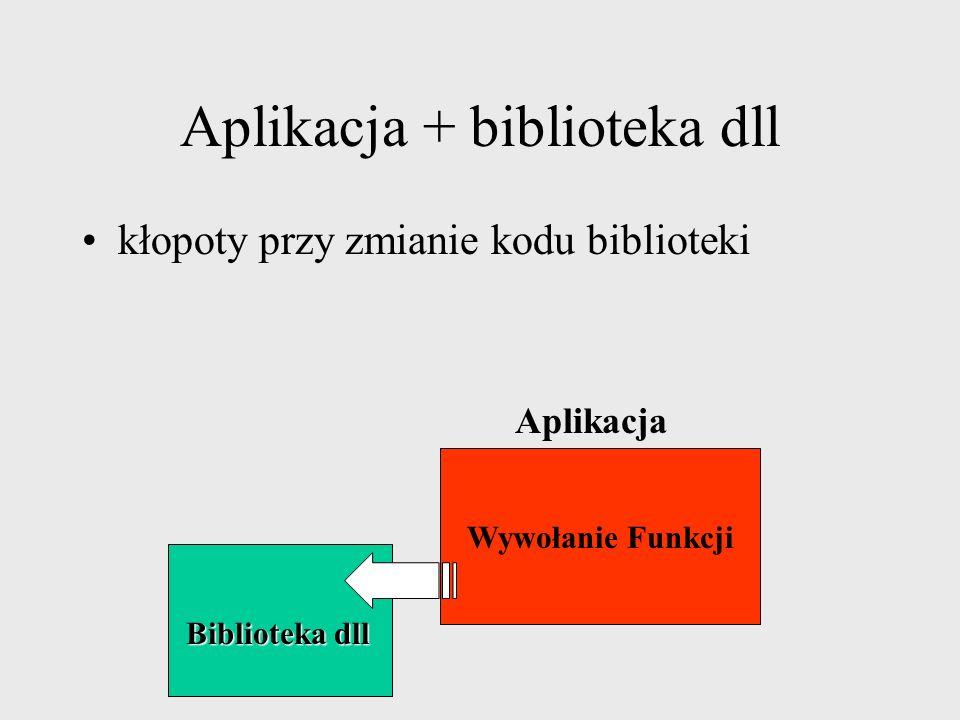 Aplikacja + biblioteka dll