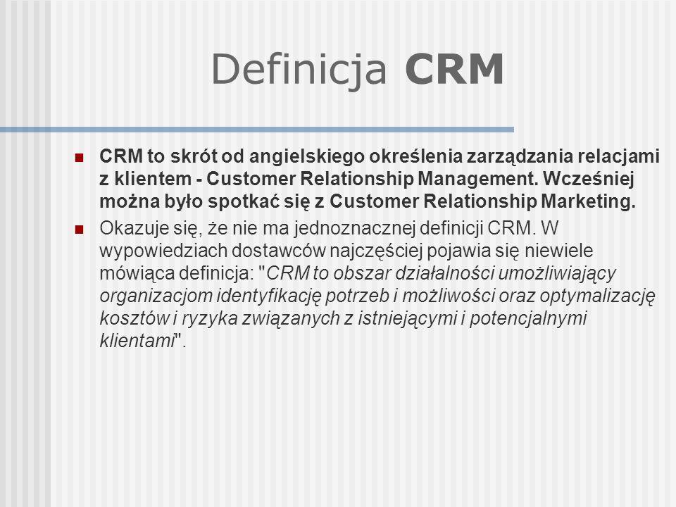 Definicja CRM