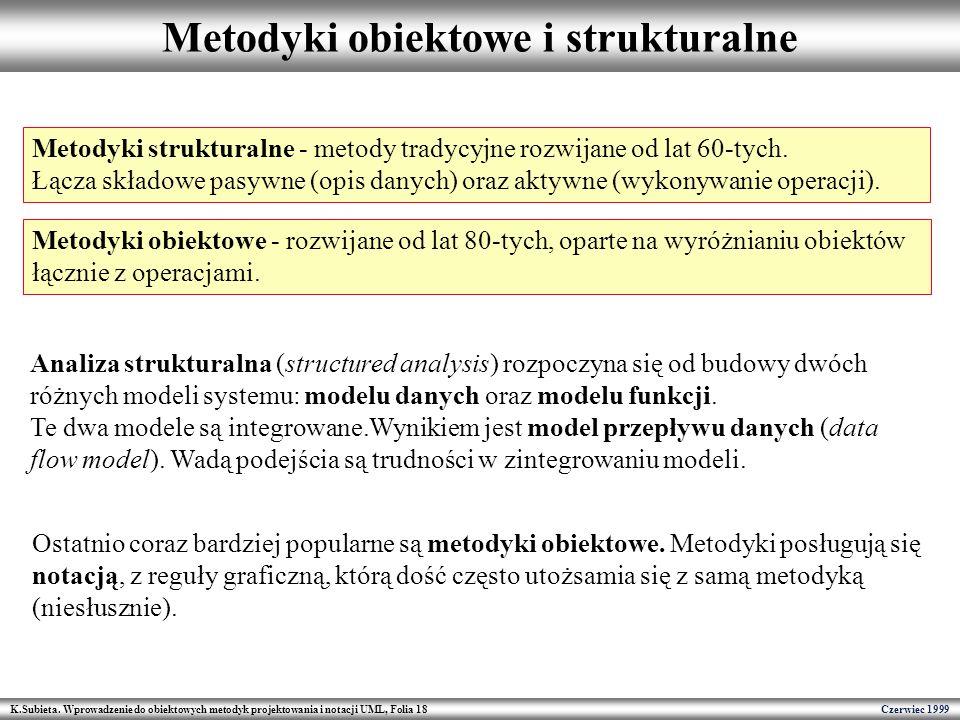 Metodyki obiektowe i strukturalne