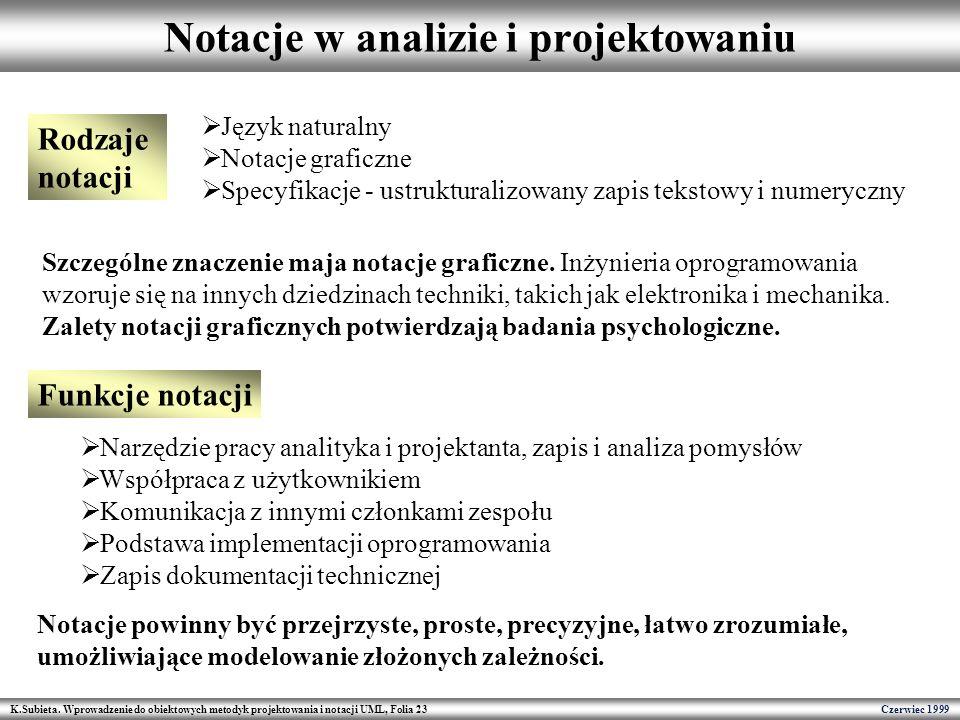 Notacje w analizie i projektowaniu