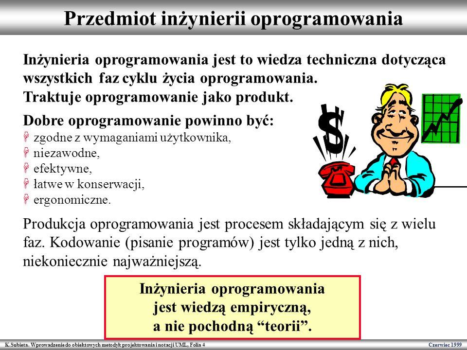 Przedmiot inżynierii oprogramowania