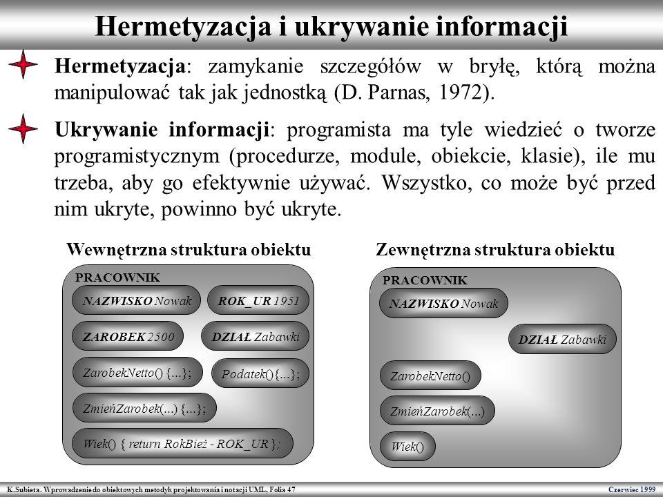 Hermetyzacja i ukrywanie informacji