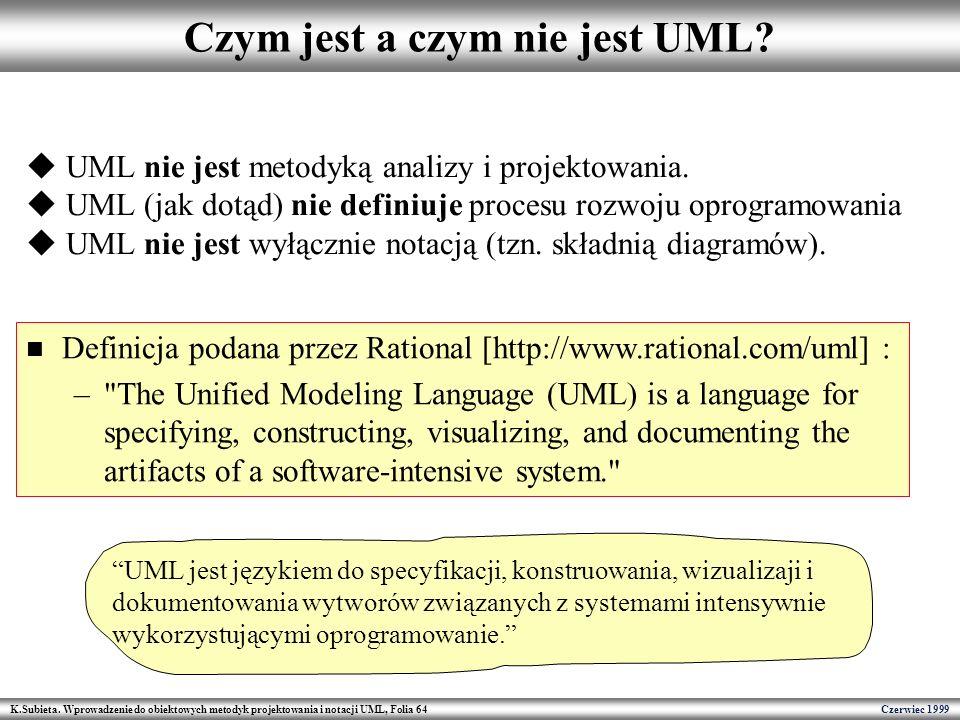 Czym jest a czym nie jest UML
