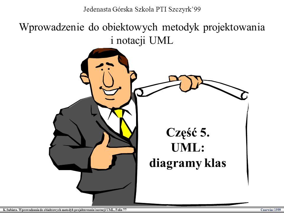 Część 5. UML: diagramy klas