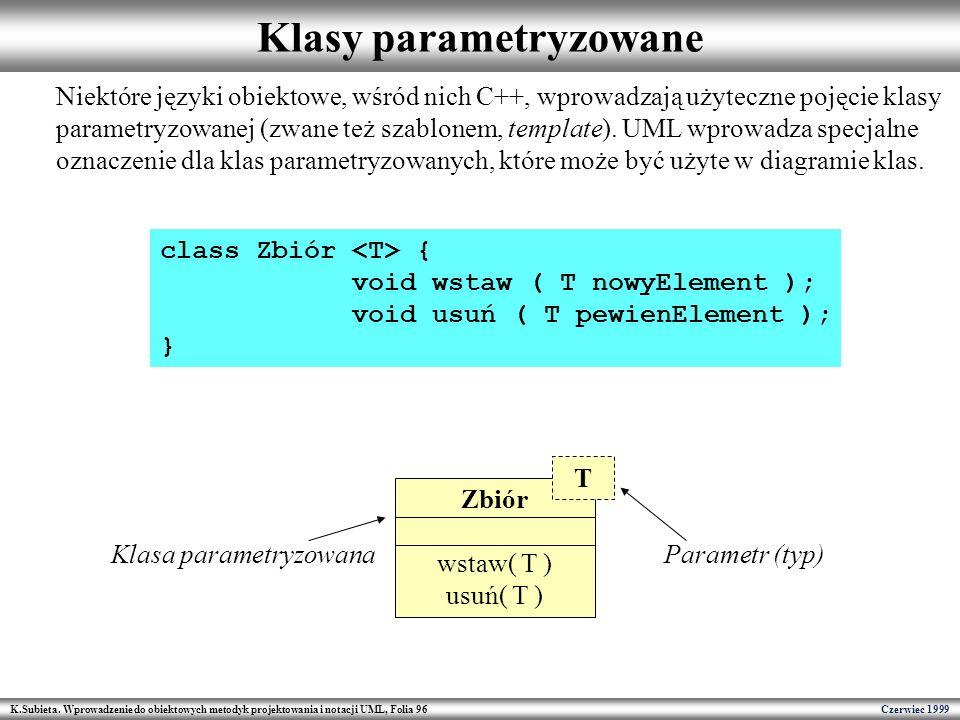 Klasy parametryzowane