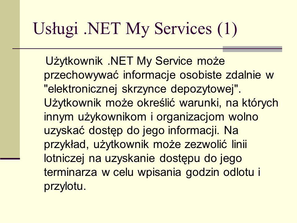 Usługi .NET My Services (1)
