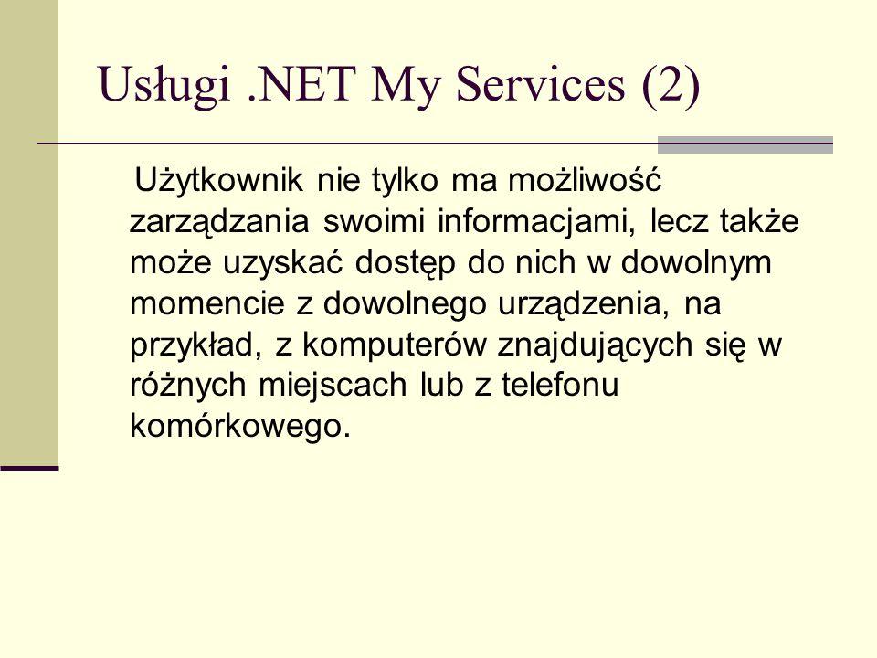 Usługi .NET My Services (2)