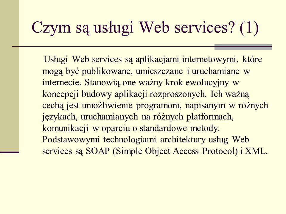Czym są usługi Web services (1)