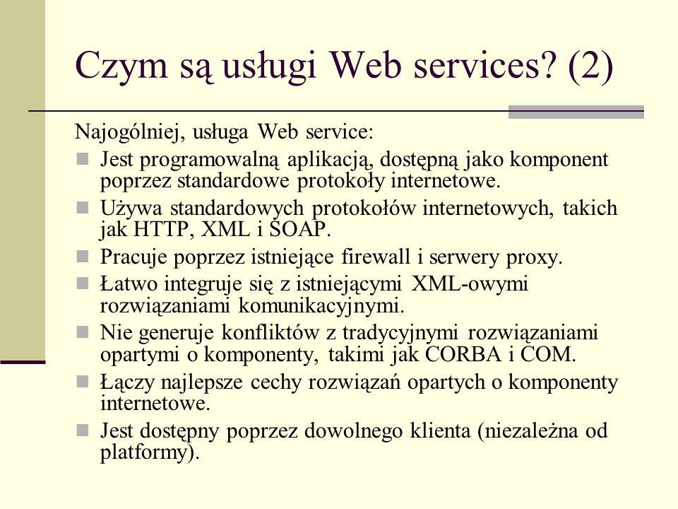 Czym są usługi Web services (2)