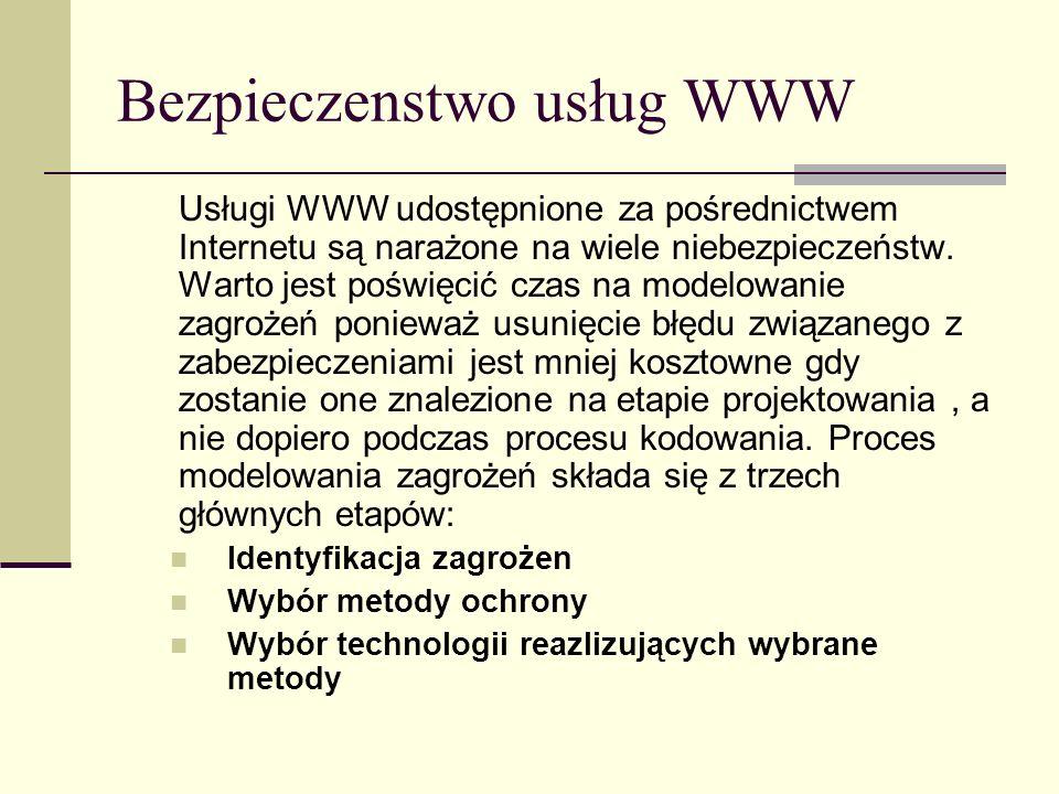 Bezpieczenstwo usług WWW