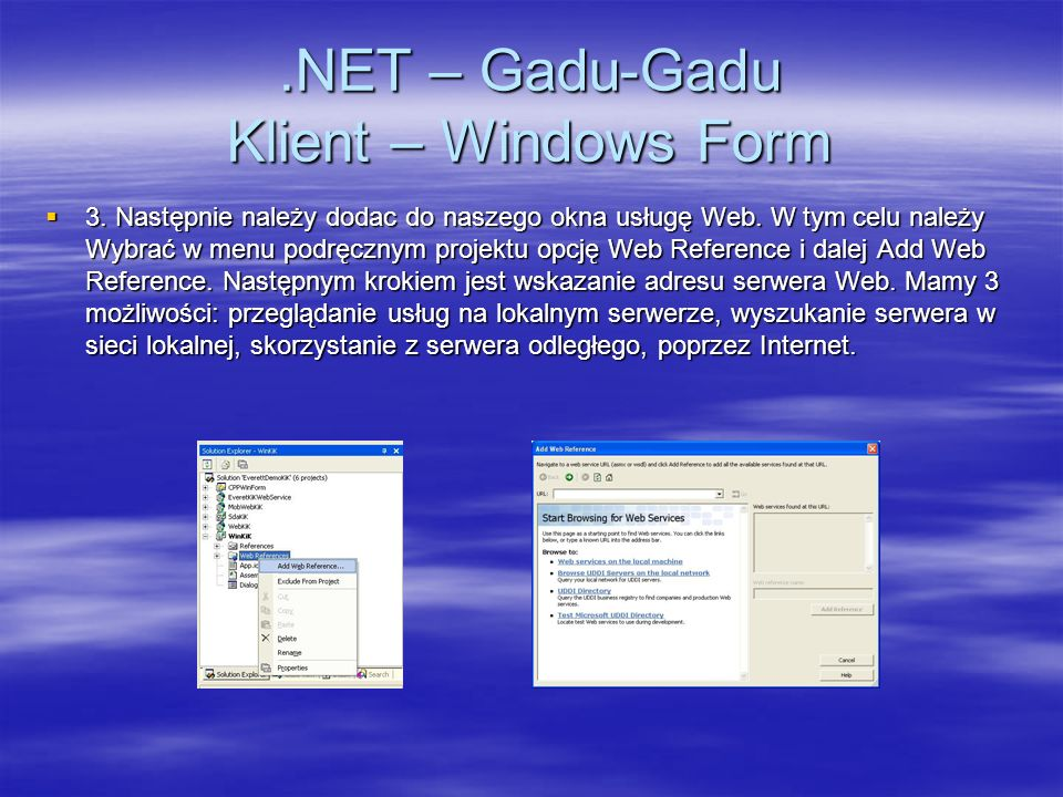 .NET – Gadu-Gadu Klient – Windows Form