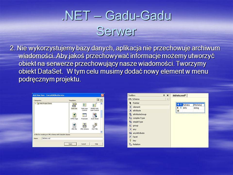 .NET – Gadu-Gadu Serwer
