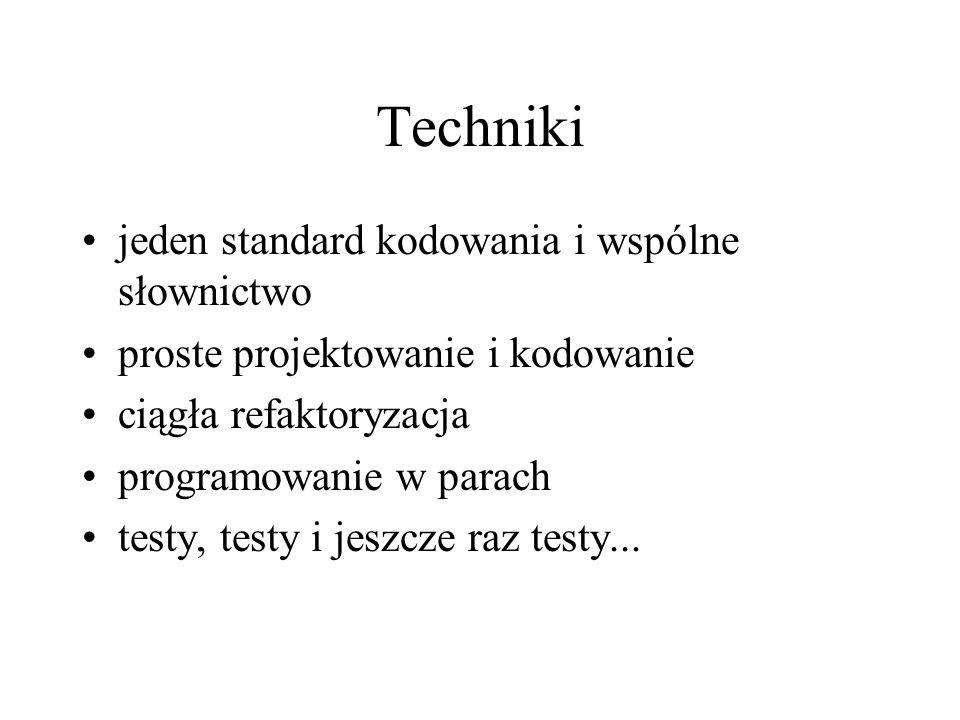 Techniki jeden standard kodowania i wspólne słownictwo