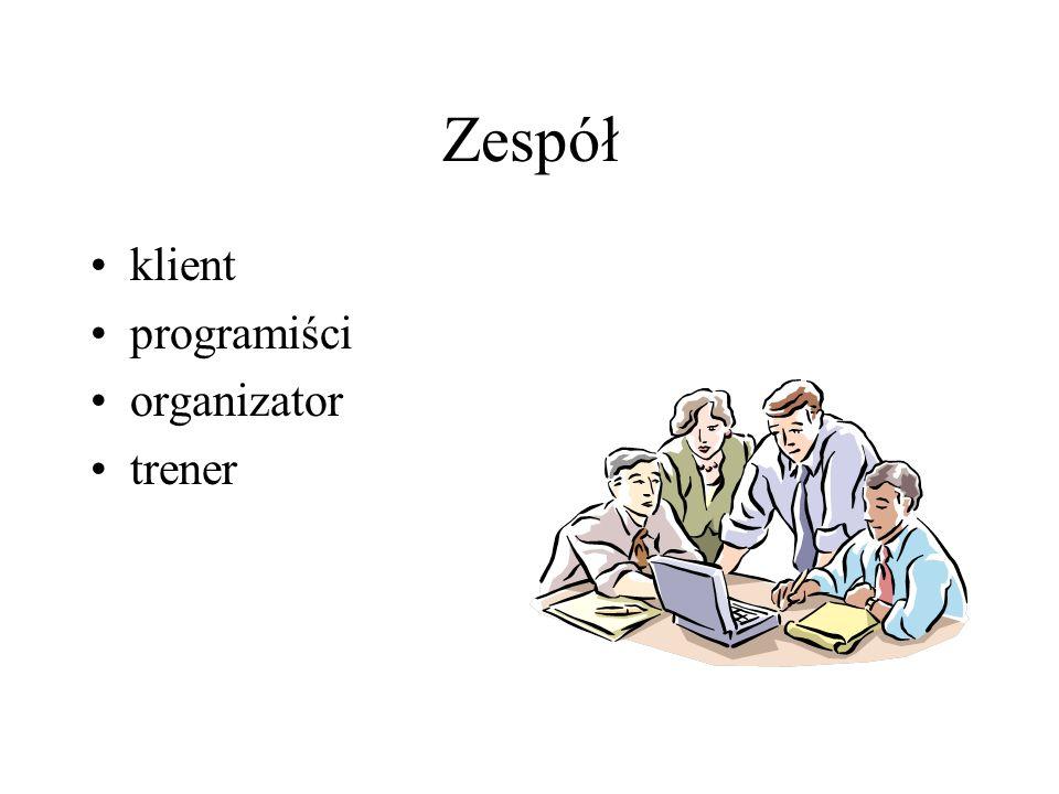 Zespół klient programiści organizator trener