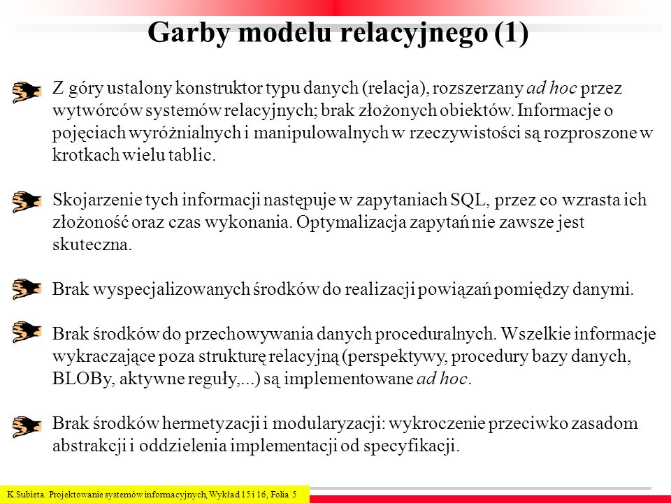 Garby modelu relacyjnego (1)