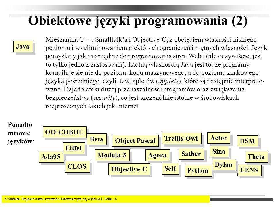 Obiektowe języki programowania (2)