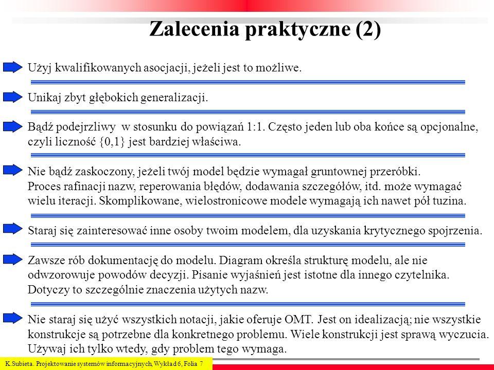 Zalecenia praktyczne (2)