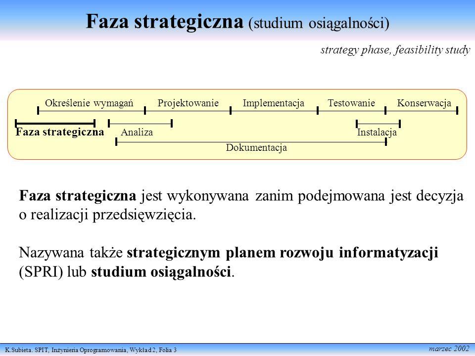 Faza strategiczna (studium osiągalności)