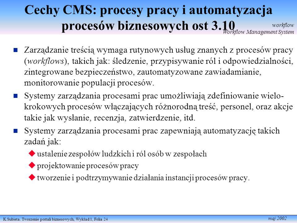 Cechy CMS: procesy pracy i automatyzacja procesów biznesowych ost 3.10