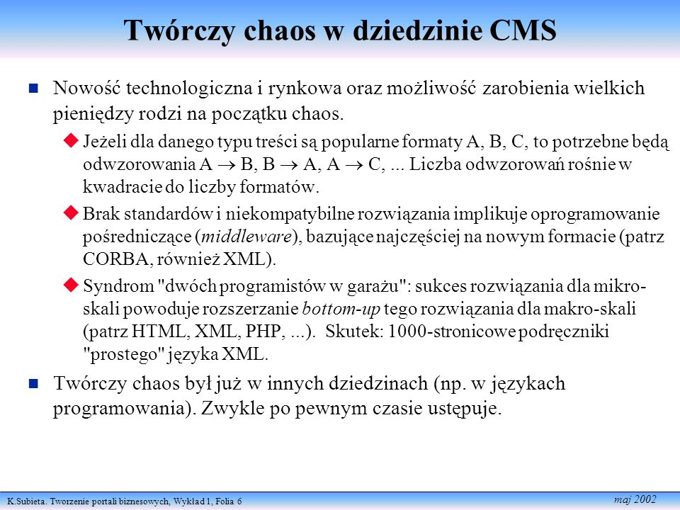 Twórczy chaos w dziedzinie CMS