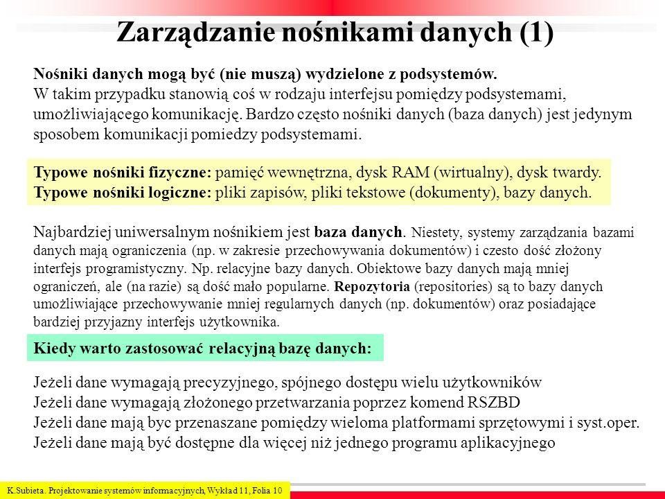 Zarządzanie nośnikami danych (1)