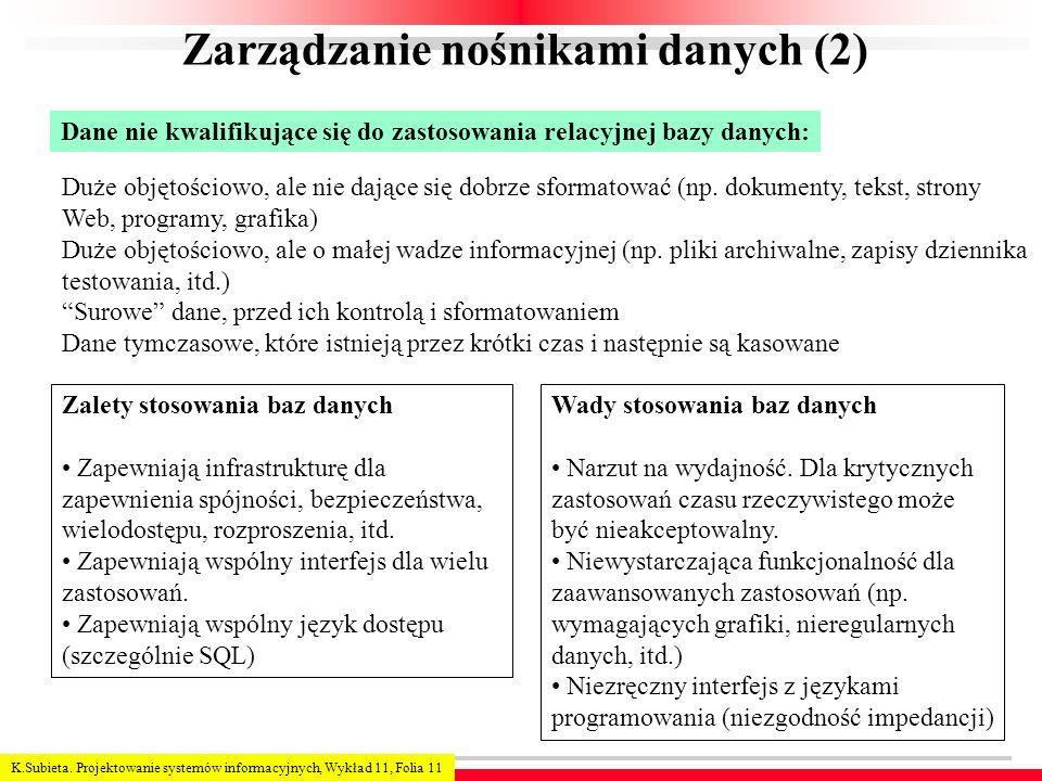 Zarządzanie nośnikami danych (2)