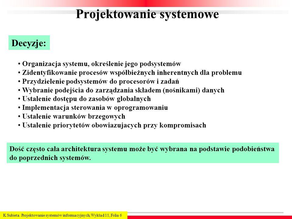 Projektowanie systemowe