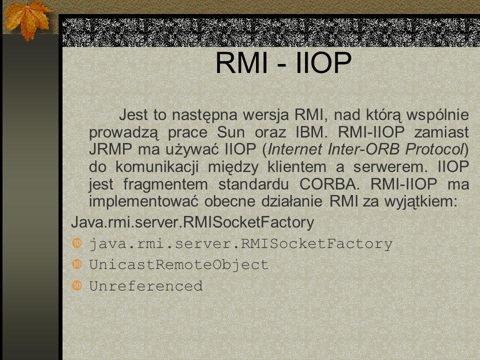RMI - IIOP