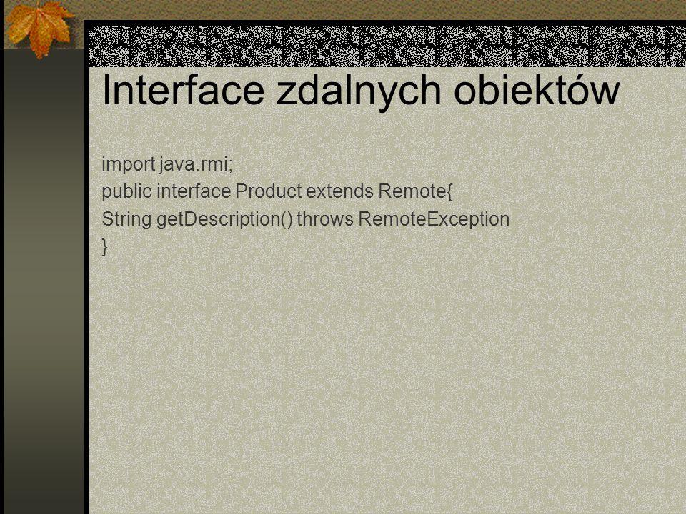 Interface zdalnych obiektów