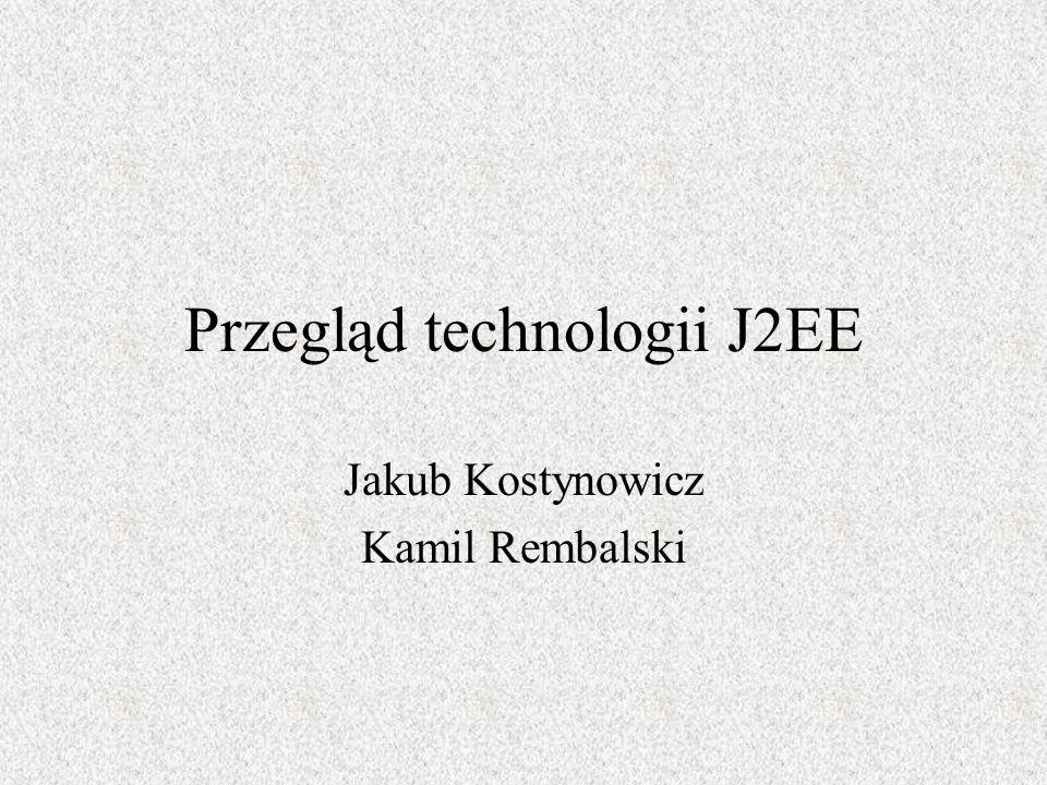 Przegląd technologii J2EE