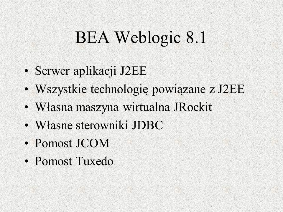 BEA Weblogic 8.1 Serwer aplikacji J2EE