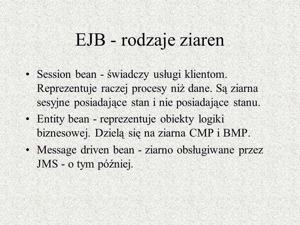 EJB - rodzaje ziaren