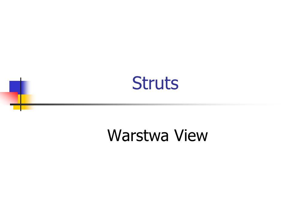 Struts Warstwa View