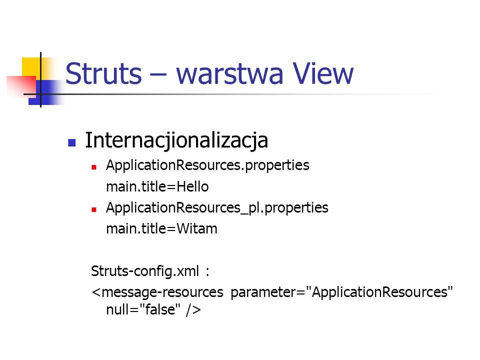 Struts – warstwa View Internacjionalizacja