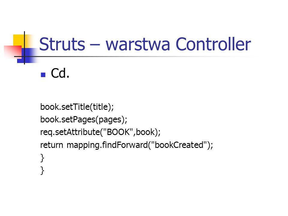 Struts – warstwa Controller