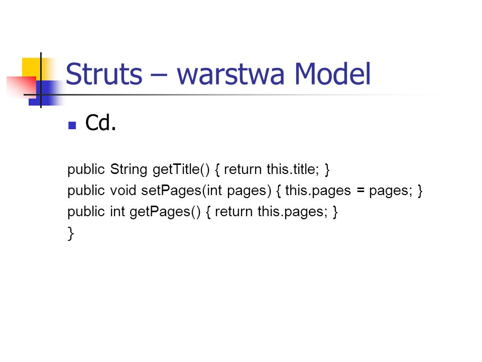 Struts – warstwa Model Cd.
