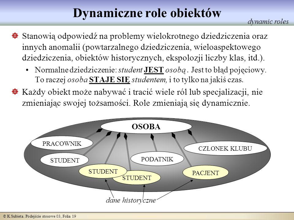Dynamiczne role obiektów