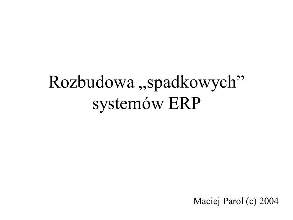 """Rozbudowa """"spadkowych systemów ERP"""