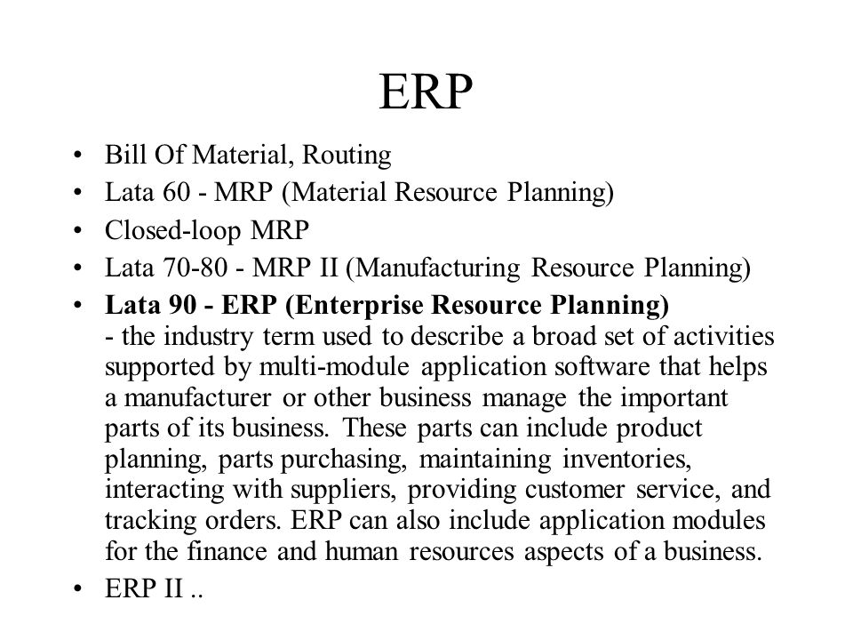 ERP Bill Of Material, Routing
