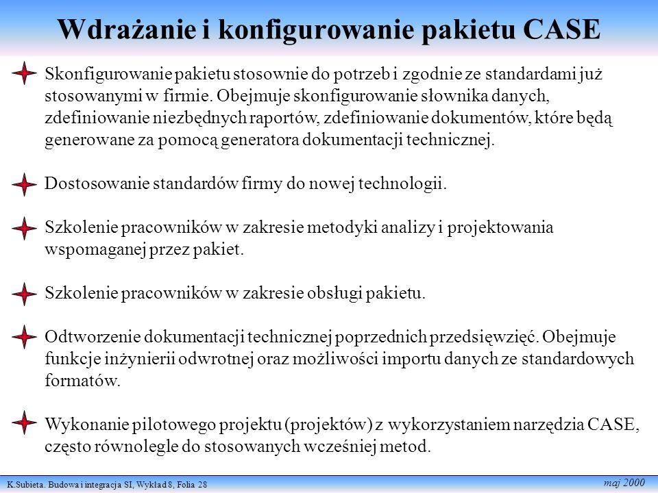 Wdrażanie i konfigurowanie pakietu CASE
