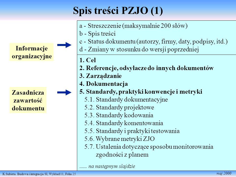 Spis treści PZJO (1) a - Streszczenie (maksymalnie 200 słów)