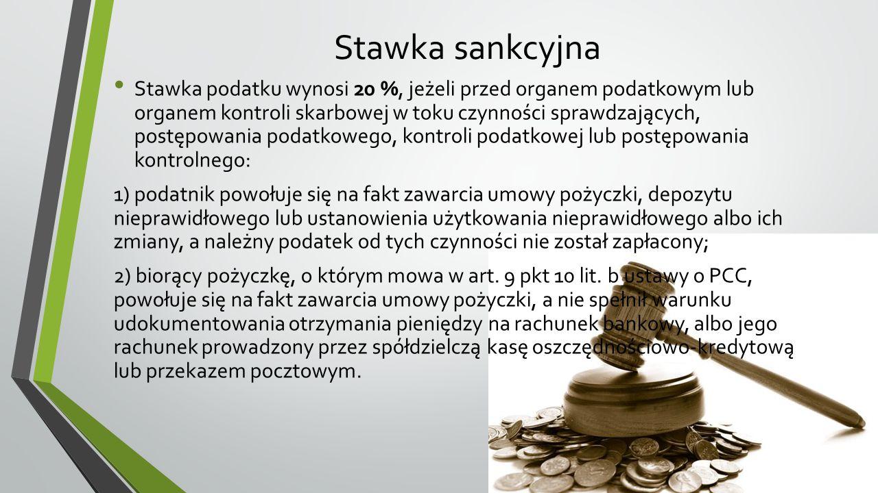 Stawka sankcyjna