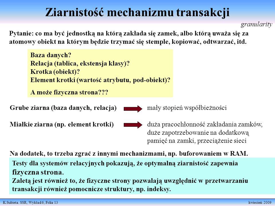 Ziarnistość mechanizmu transakcji